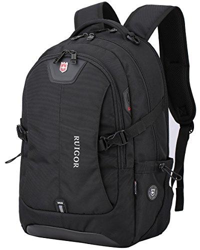 Ruigor RG6147 - robuster Trekking Rucksack wasserabweisender outdoor Rucksack 30l Laptop Tasche 15.6 Zoll schwarzer Herren Arbeitsrucksack